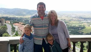 With the grandkids - cortona